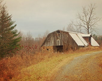 Old Barn Photo: old barn art Appalachian barn photo rustic barn photo rustic barn art sepia art