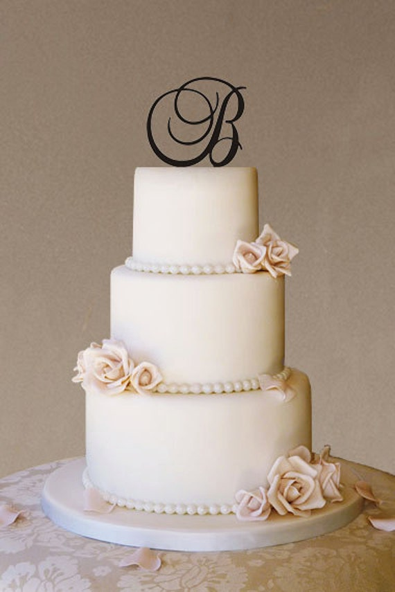 Custom Wedding Cake Topper Wedding Cake Topper Monogram