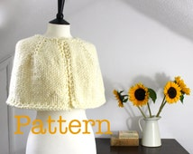 Knitting Pattern Bed Cape : Unique knit cape pattern related items Etsy