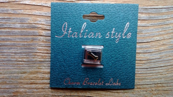Italian Style Charm Link, Dog Bone, Stainless Steel Link, Stocking Stuffer