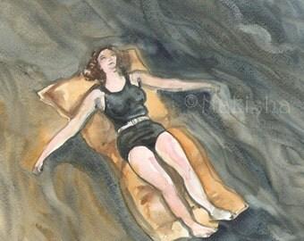 Float - Original Watercolor Painting
