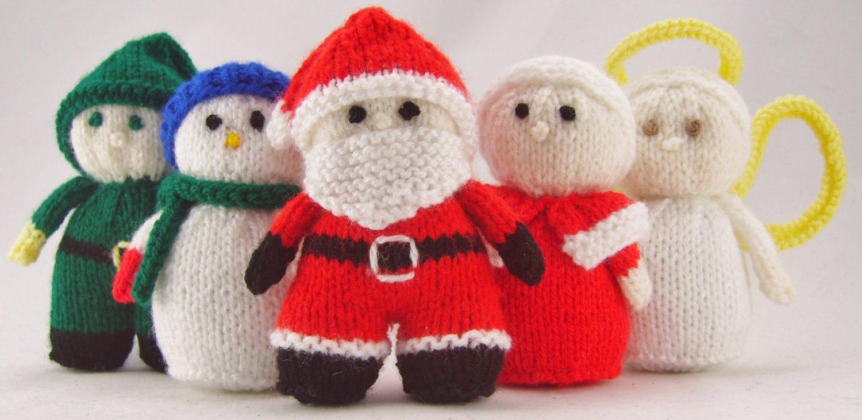 Free Christmas Knitting Patterns Snowman : Knitting pattern mini christmas characters