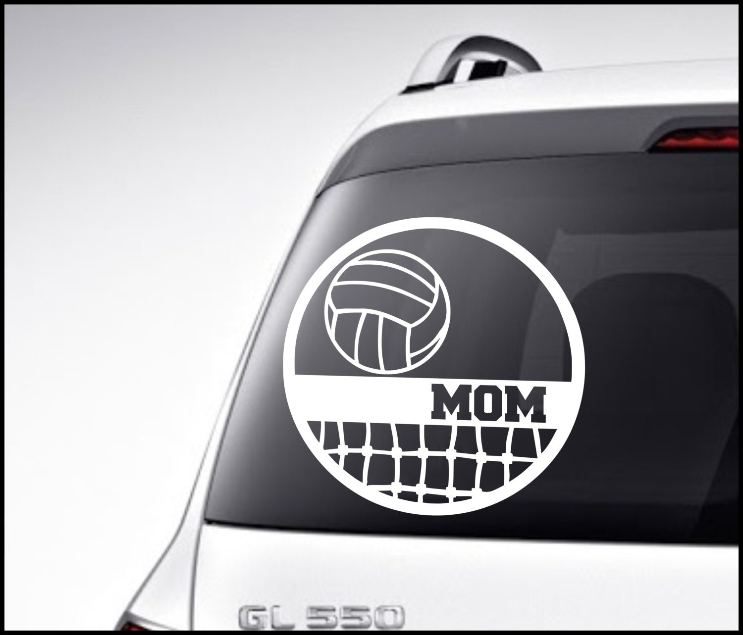 Volleyball Car Decal Vinyl Lettering Bumper Sticker High