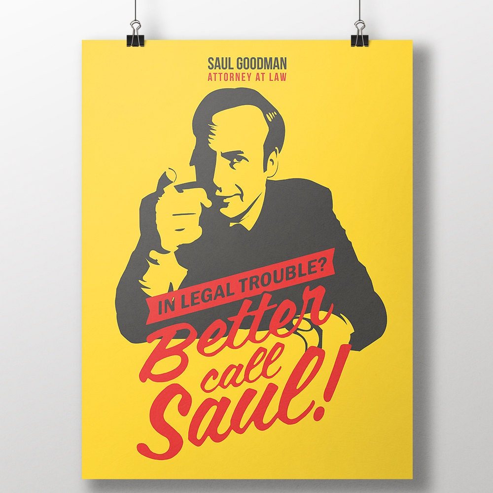 Better Call Saul Print Breaking Bad Saul Goodman Poster