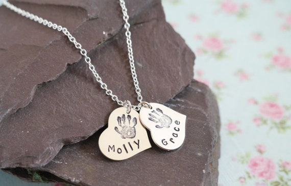 sterling silver childs name necklace valentines gift idea for