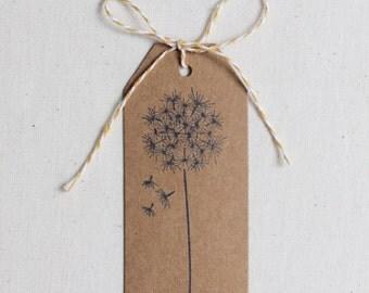 Dandelion Kraft Paper Gift Tag - Set of 24