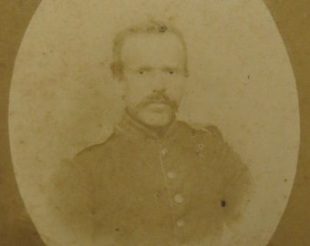 Unknown 1860's Soldier In Dress Uniform CDV Photograph - Free Shipping