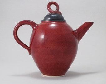 Copper Red Ceramic Tea Pot
