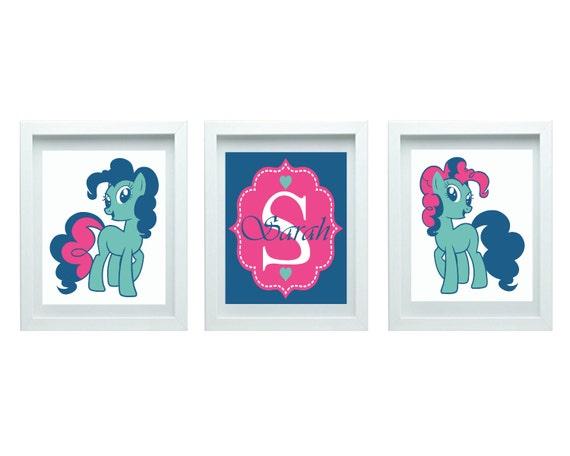 my little pony cute pony decor girls nursery art girl bedroom decor