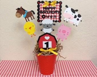 Farm Barnyard Birthday Centerpiece - Baby Shower Decoration