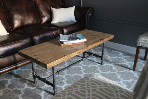 Industrial urban wood reclaimed coffee table or media by for Coffee tables urban barn