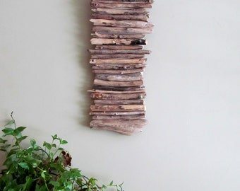 IN STOCK - Driftwood Hanging Art, Driftwood Wall Hanging Art, Wall Art, Beach Home Decor, Large Driftwood Art, Driftwood Decor