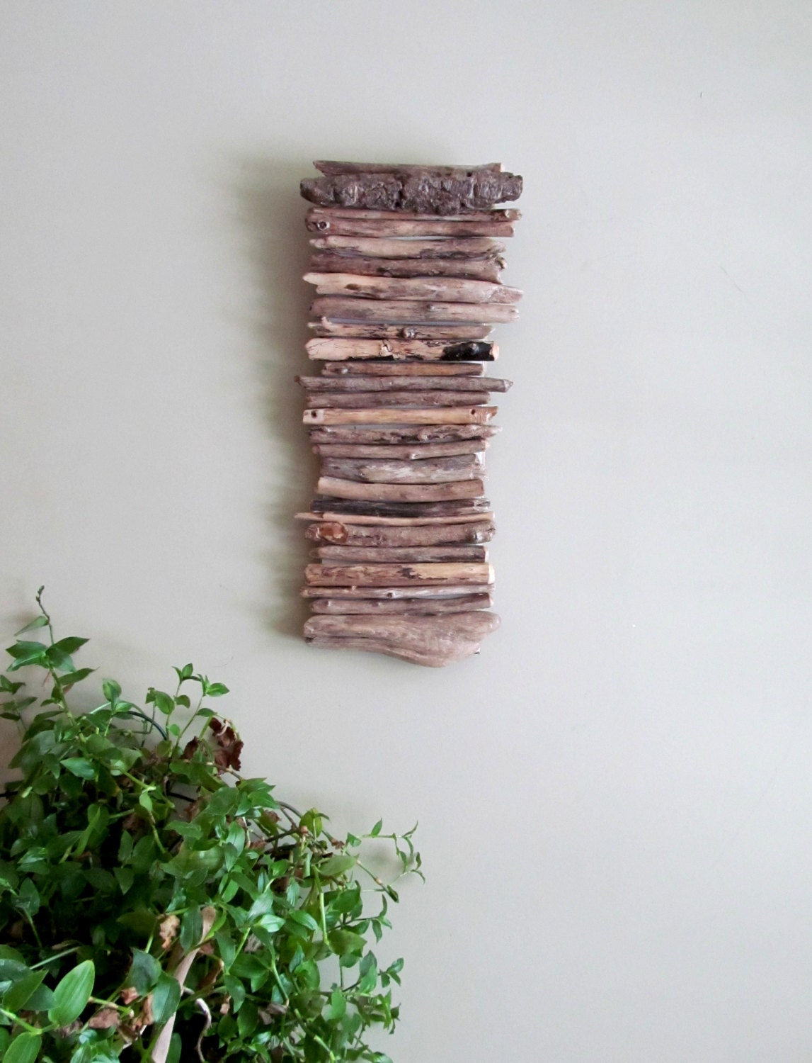 Wall Hanging Artwork : Driftwood hanging art wall by