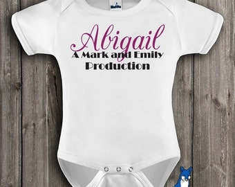 Production baby, Personalized baby clothing, baby boy or girl clothing by BlueFoxApparel *147