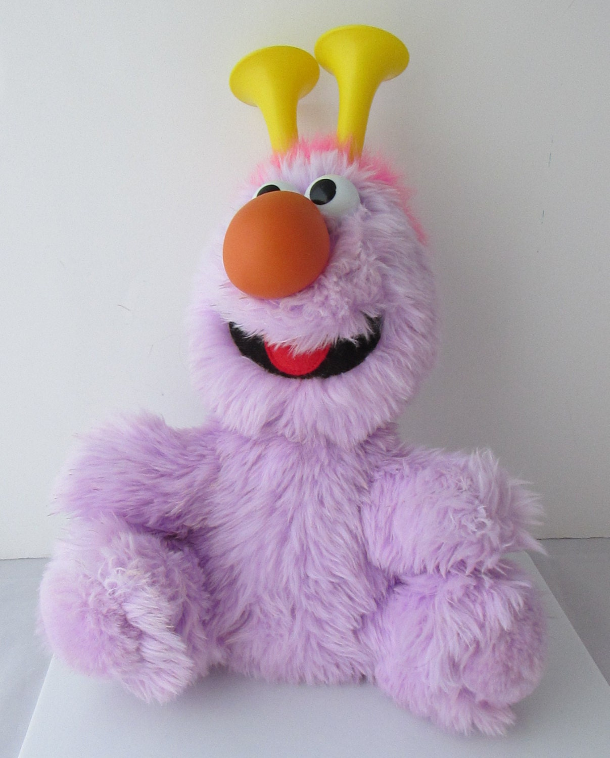 Sesame Street Toys : Purple honker sesame street stuffed plush toy vintage applause