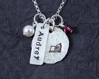 Express Yourself necklace, personality necklace, Hobbies Necklace, Individuality, hand stamped jewelry