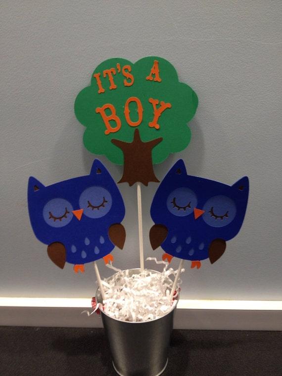 piece owl woodland baby shower centerpiece