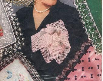 Crochet Edgings For Handkerchiefs - Coats and Clarks Book No. 271