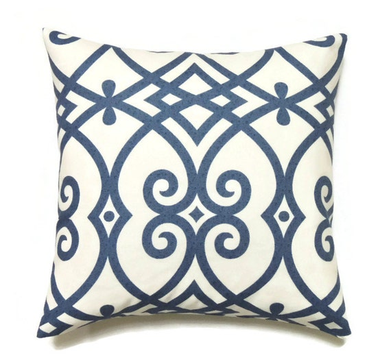 Modern Pillow Covers Etsy : Blue Geometric Pillow Cover 20x20 Pillow Cover Modern Indigo