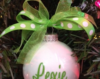 Christmas Ornament - Personalized Kids Ornament - Our Most Popular Christmas Ornament - Custom Made Ornament - Stocking Stuffer