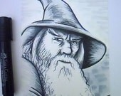 Gandalf the Grey Illustration