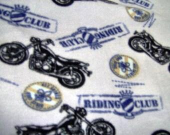 SALE Motorcycle Fleece Blanket