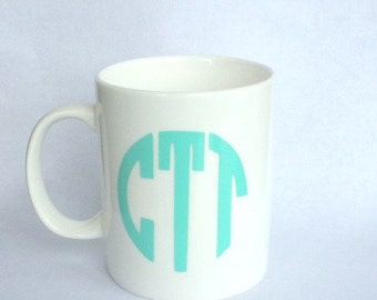 Monogram Mug -MORE COLORS AVAILABLE