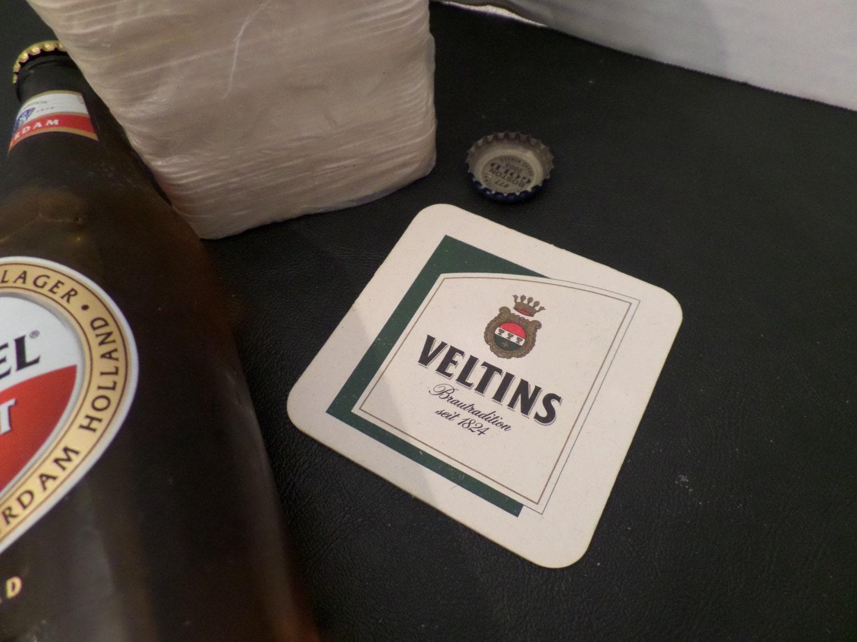 Veltins beer cardboard coasters whole sleeve german beer - Cardboard beer coasters ...