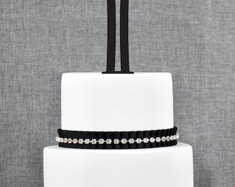 Personalized Monogram Initial Wedding Cake Toppers -Letter I, Custom Monogram Cake Toppers, Unique Cake Toppers, Traditional Initial Toppers