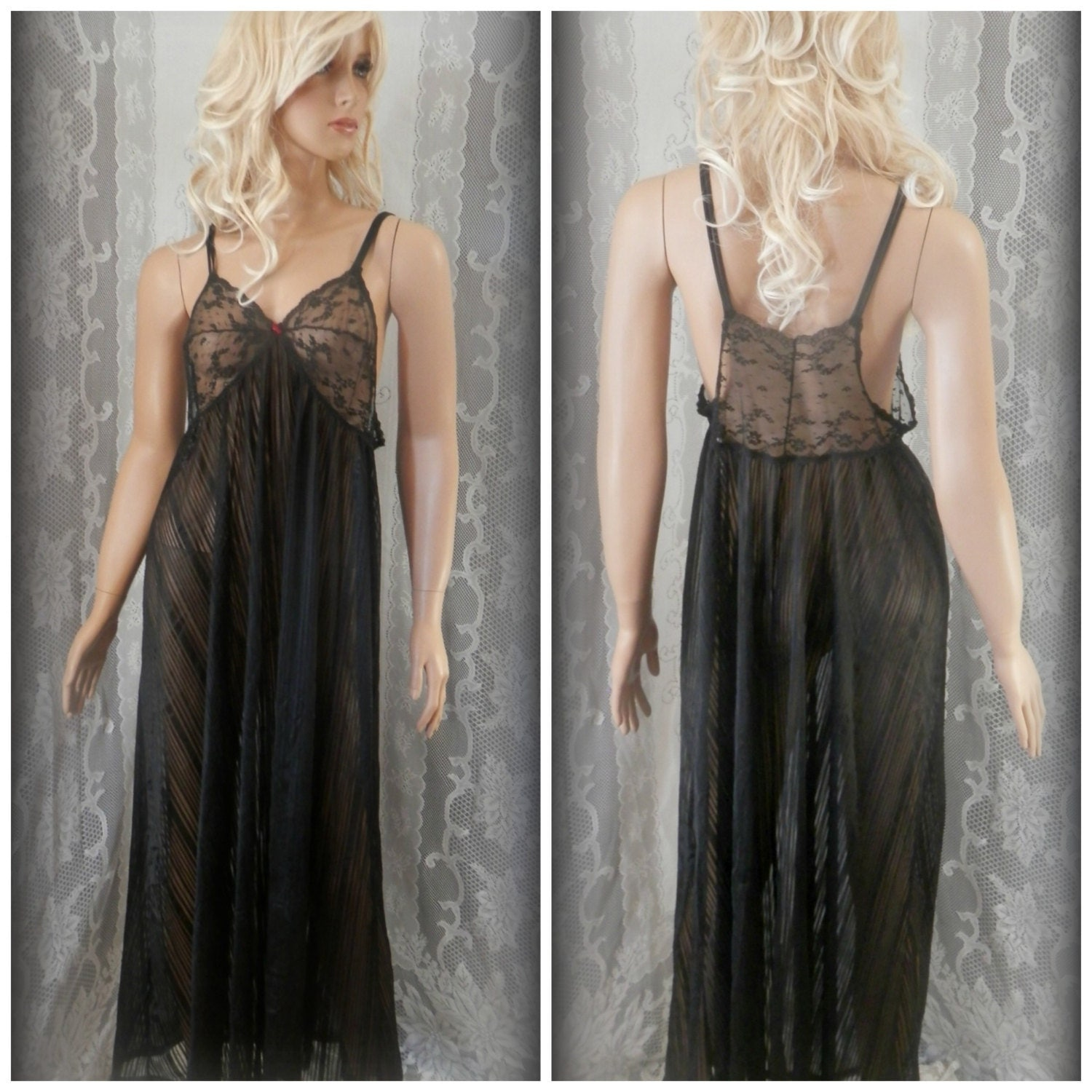 see thru nightgown eBay