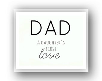 BUY 1 GET 2 FREE!!! Instant Download Digital Art Gift for Dad from Daughter