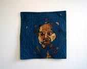 """Portrait Art Quilt - """"Ripples"""""""