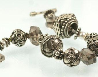 Stark Beauty Bracelet - smoky quartz and sterling silver