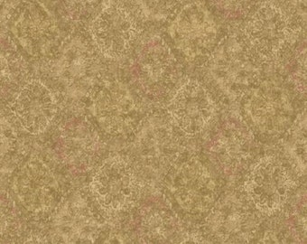 Tan Cream Bronze Bohemian Harlequin Faux Paint Effect - Old World, Victorian, Yardage, Wall Decor - Wallpaper By The Yard - PP5517