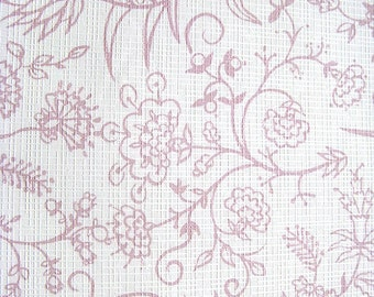 Vintage 1970s Wallpaper Pineapple and Flowers Pink and Off White Waffle Texture Wallpaper