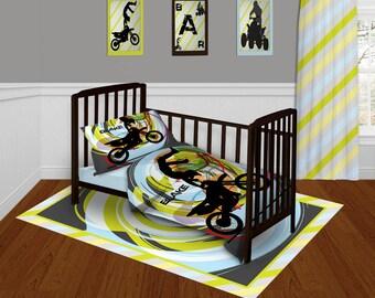 baby bedding for boys motocross bedding set toddler. Black Bedroom Furniture Sets. Home Design Ideas