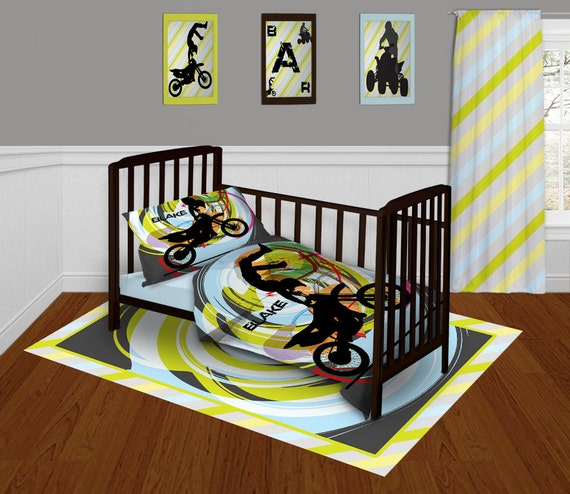 Items Similar To Baby Bedding For Boys Motocross Bedding
