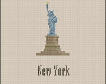 New York Statue of Liberty Cross Stitch Pattern