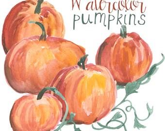 Pumpkin Clip Art, Fall Decor, Digital Clipart, Halloween, Autumn Clip Art, Pumpkin Patch, Pumpkin Clipart, Fall Digital Graphics,