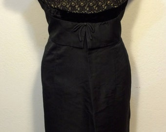 FREE  SHIPPING   1950 Lace Black Dress