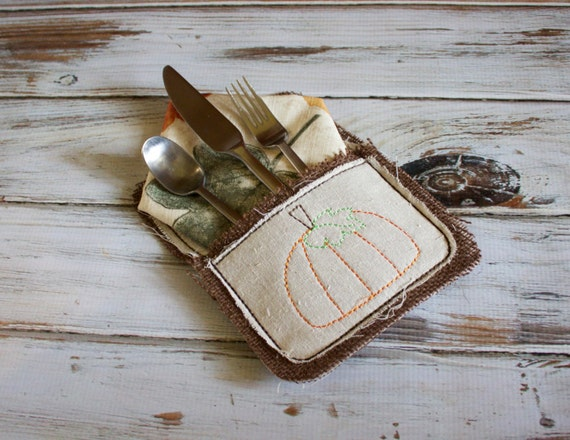 In the Hoop Silverware Pocket design - ITH design - pocket design - thanksgiving design - christmas design - In the hoop design -