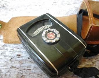SALE - Vintage 1950s General Electric Mascot Exposure Meter ~ Leather Case ~ Photography Gear