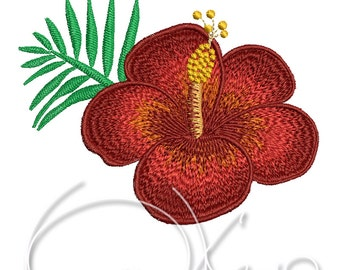 MACHINE EMBROIDERY FILE - Tropical flower - Hibiscus