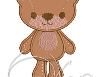 MACHINE Applique&Embroidery design - Bear applique