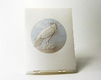 Eagle Bird Card. Stationery. Birds Letterpress. Embossed. Single card. Blank inside.