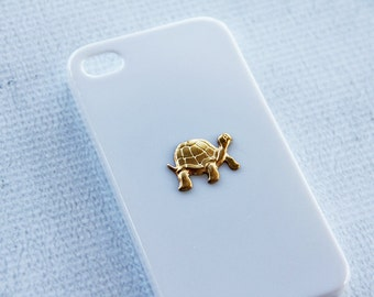 Sea Turtle Phone Case for iPhone 4 and 4s Animal Design Pattern iPhone 4 4s Turtle Reef Ocean Sea Creature Case for iPhone 4 & 4s Gold Case