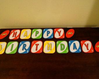 Uno Birthday Banner