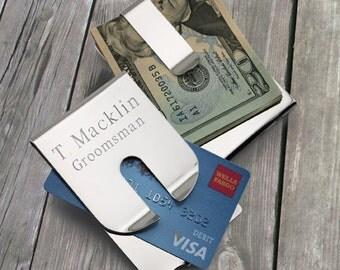 Polished Money Clip Card Holder - Monogrammed Money Clip - Personalized Money Clip - Personalized Wallet - Groomsmen Gifts - GC1058