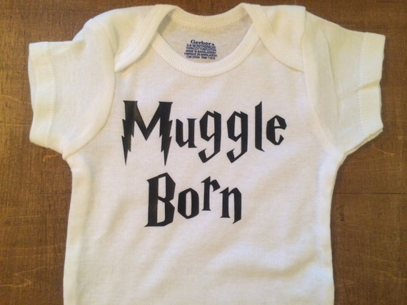 Harry Potter Baby Gifts Uk : Muggle born onesie or toddler t shirt harry potter inspired