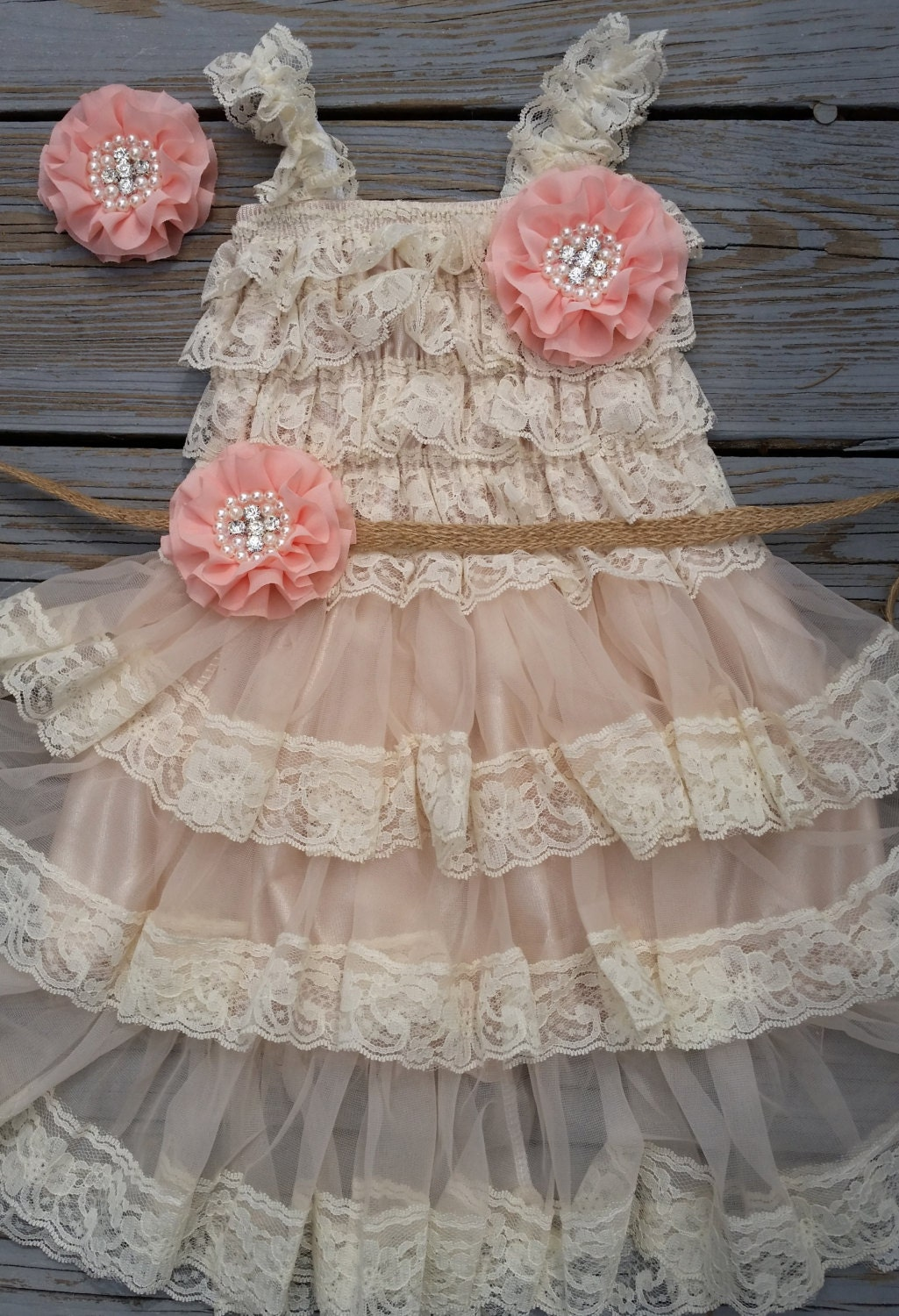 Country Flower Girl Dress Rustic Flower Girl by